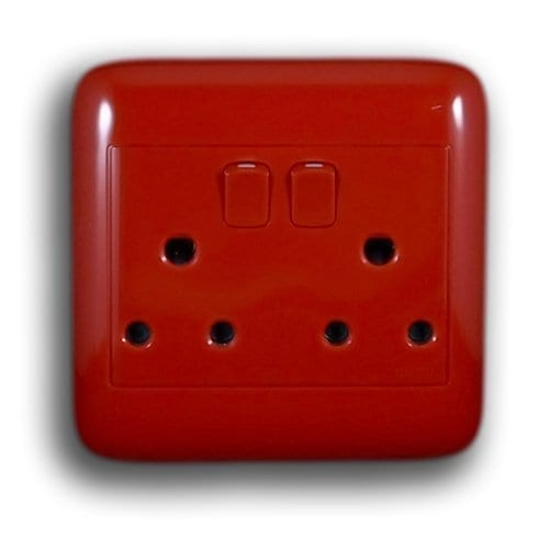 ONESTO 4X4 RED DOUBLE SOCKET