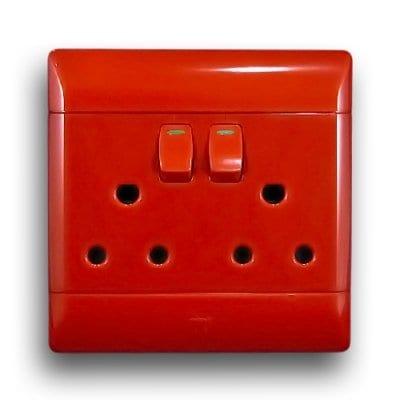 CBI 4X4 RED DOUBLE SOCKET