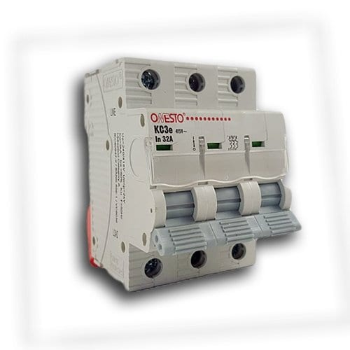 ONESTO TRIPLE POLE CIRCUIT BREAKER 3KA DIN RAIL