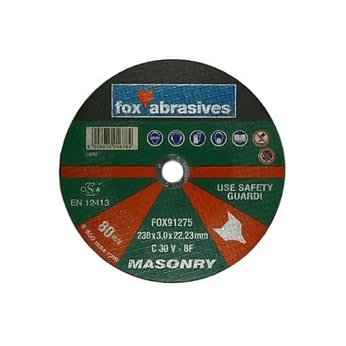 FOX 230MM MASONRY CUTTING DISC