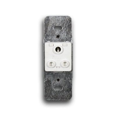 CRABTREE 5A 2X4 UNSWITCHED SOCKET MODULE