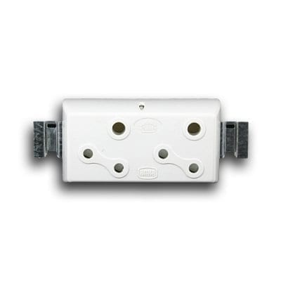 CRABTREE 2 X 5A SURFACE SOCKET MODULE