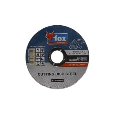 FOX 115MM STEEL CUTTING DISC
