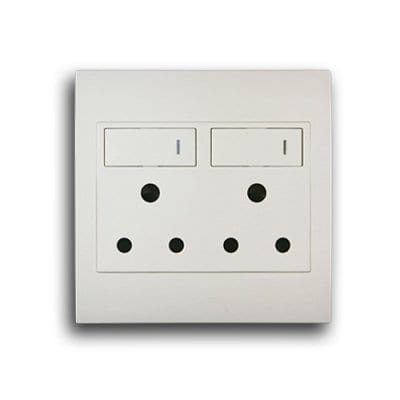 SCHNEIDER S3000 4X4 DOUBLE SOCKET