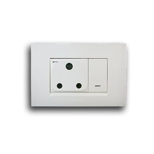 SCHNEIDER S3000 2X4 SINGLE HORIZONTAL SOCKET