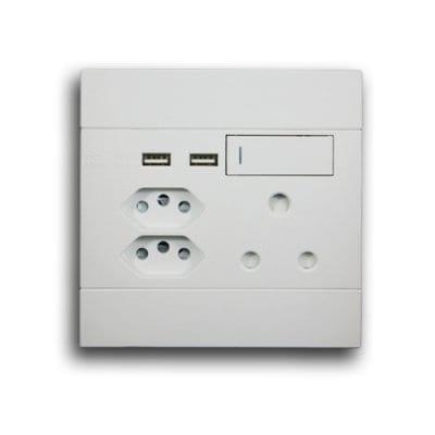MAJOR-TECH VETI 2 SA + EURO + USB SOCKET 2VW227