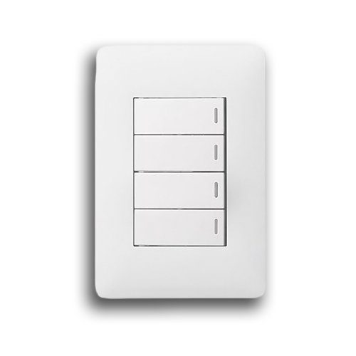 LEGRAND YSALIS 2X4 4 LEVER SWITCH PY424WHT