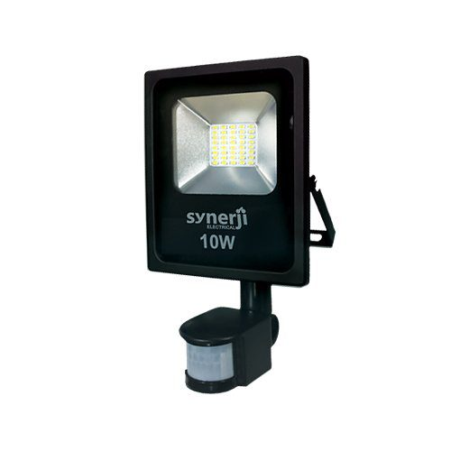 SYNERJI 10WATT FLOODLIGHT WITH MOTION SENSOR