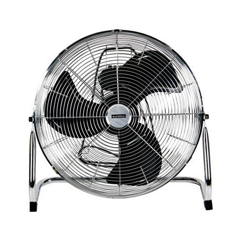 EUROLUX F17 CHROME INDUSTRIAL FLOOR FAN