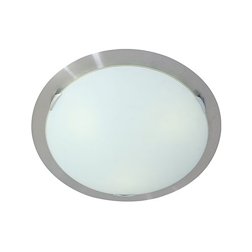 EURO C270SATIN CHROME CEILING LIGHT