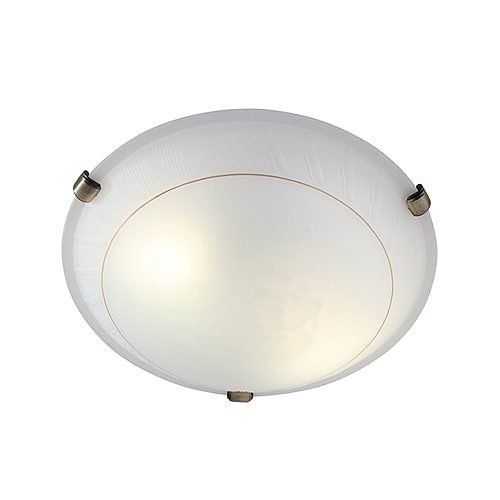 EUROLUX C296 GOLD LINE ANTIQUE BRASS CEILING LIGHT