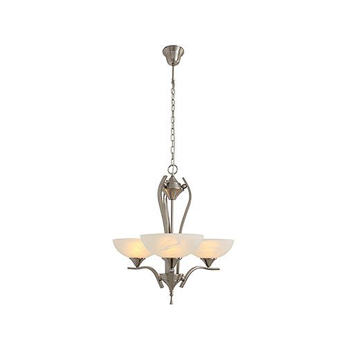 EUROLUX CH106SC SOFIA CHANDELIER SATIN CHROME