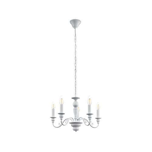 EUROLUX CH128 CAPOSILE WHITE CHANDELIER