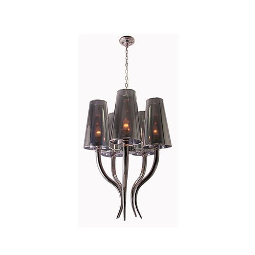EUROLUX CH208 HORN CHROME CHANDELIER