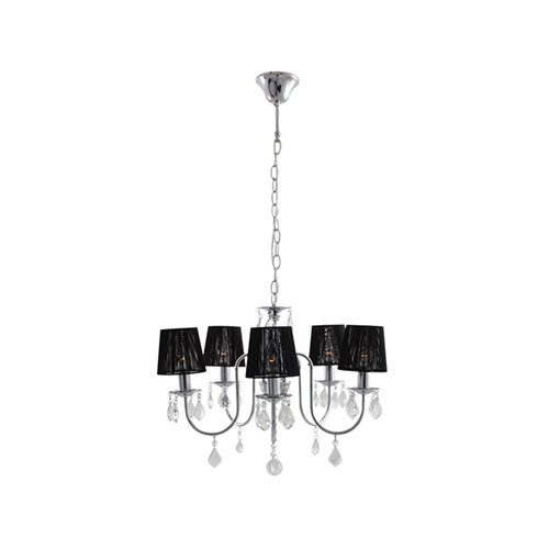 EUROLUX CH220 OPULENCE BLACK/CHROME CHANDELIER