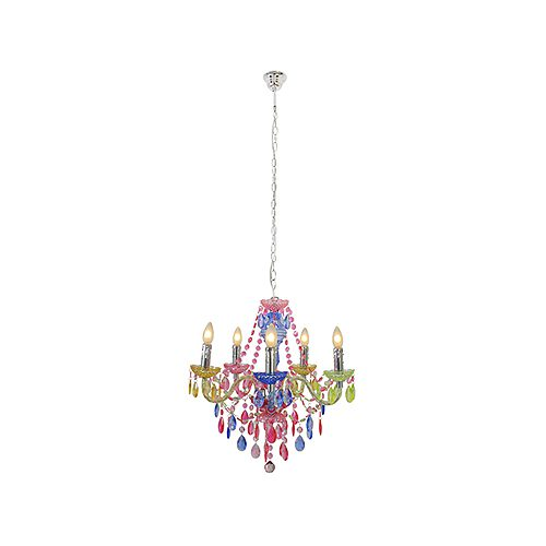 EUROLUX CH246MC OLAF ACRYLIC MULTI-COLOURED CHANDELIER