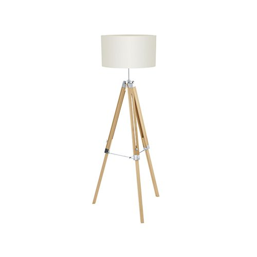 EUROLUX FL191NB WOOD & NATURAL BEIGE LAMP