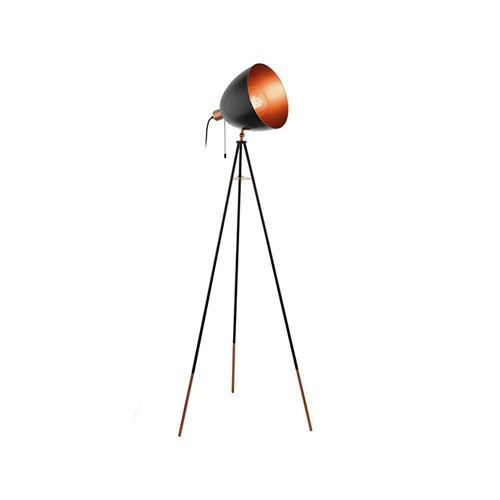 EUROLUX FL202 CHESTER BLACK & COPPER LAMP