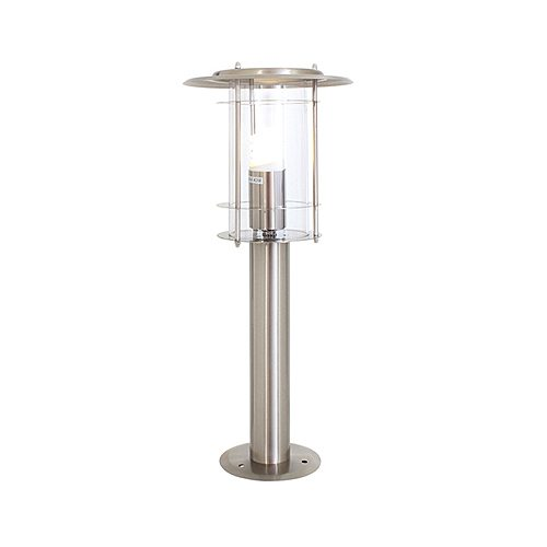 EUROLAX O42SS STAINLESS SATIN CHROME BOLLARD