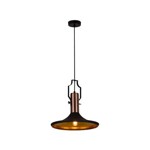 EUROLUX P959 ELEANOR BLACK & COPPER PENDANT