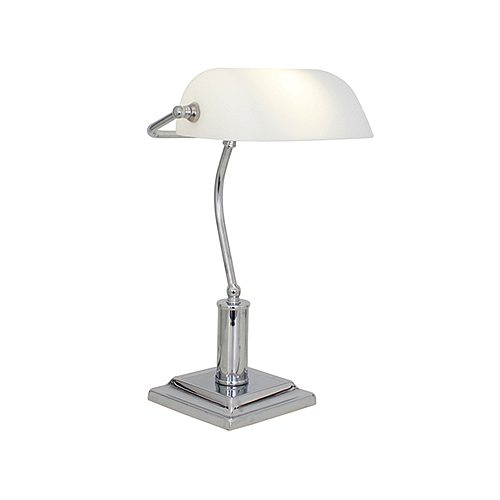 EUROLUX 104CH BANKERS CHROME LAMP