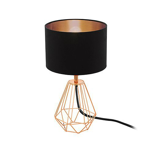 EUROLUX T159BC CARLTON2 BLACK & COPPER LAMP