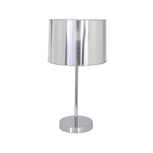 EUROLUX T251 METAL SILVER & CHROME LAMP