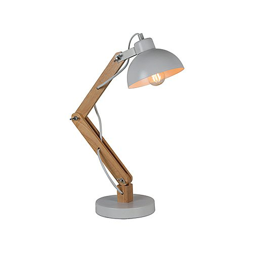 EUROLUX T556 HESTON METAL & WOOD LAMP