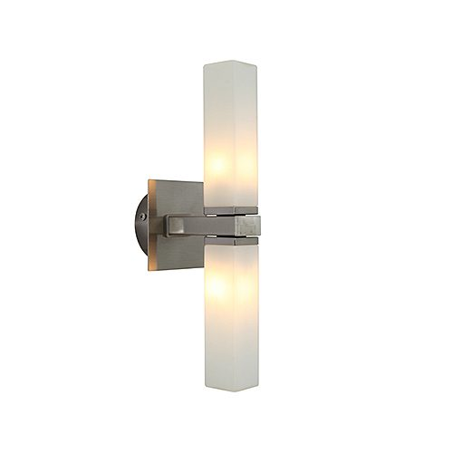 EUROLUX W349SC PALERMO SATIN CHROME WALL LIGHT
