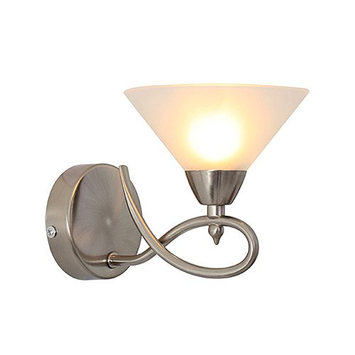 EUROLUX W355SC MARTINI TWIST SATIN CHROME WALL LIGHT