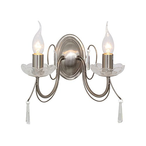 EUROLUX W356SC SATIN CHROME WALL LIGHT