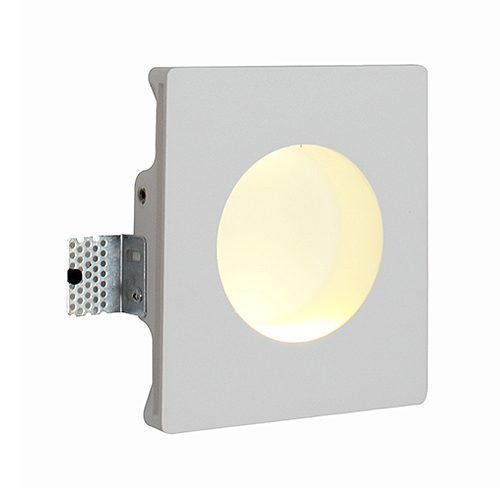 EUROLUX W386 GYPSUM RECESSED LED WHITE WALL LIGHT