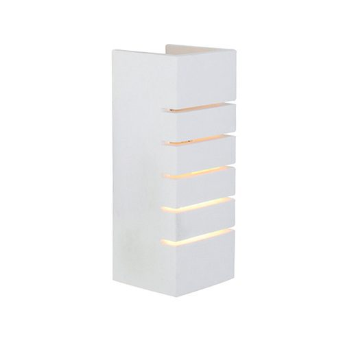 EUROLUX W390 GYPSUM WHITE WALL LIGHT